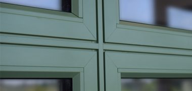 Crown green casement flush sash window